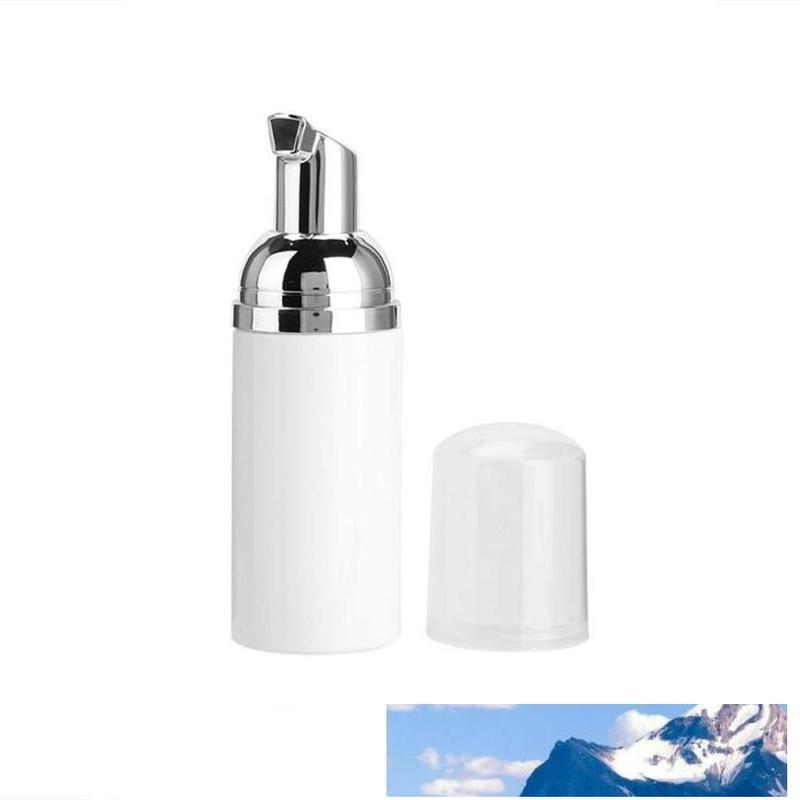 30ML plastique Distributeur de savon Rechargeables Bouteilles Pompe d'or Pompe 1OZ Mousse Voyage mousse Distributeur Bouteille transparente