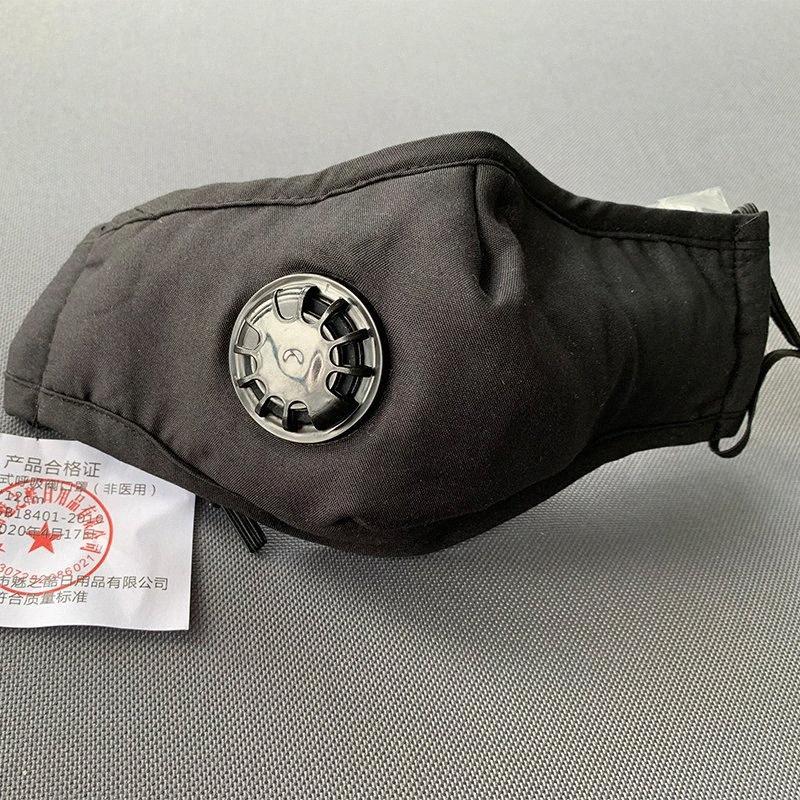 Valf Yeniden Yıkanabilir Maskeleri Yüz Nefes 1 karbon filtre protectiveCOTTON PEMBE SİYAH BEYAZ BAG Mascherin 8Hyg # ile Anti-Dust PM2.5 Maske