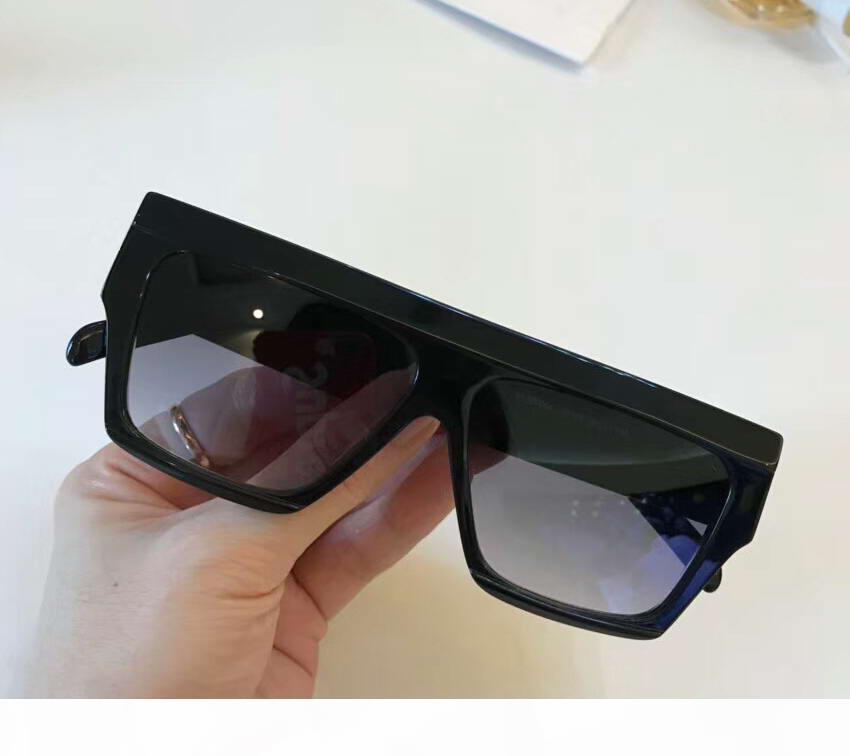 Raffreddare 40030 Quadrato Nero Occhiali Da Sole Nero Grigio Shades 55 millimetri da sole unisex occhiali da sole di estate di nuovo in scatola
