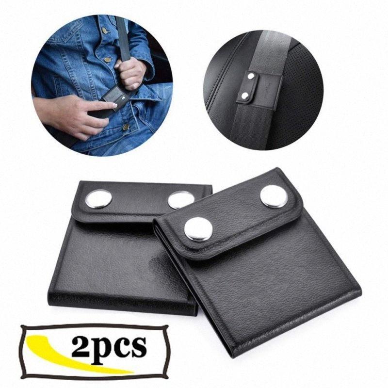 2pcs de hombro del cinturón de seguridad del coche del ajustador Comfort auto universal clips de correa para el cuello Posicionador de bloqueo CZ CGAj #