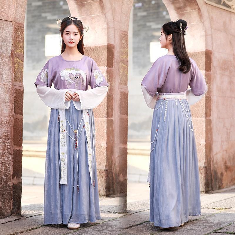 6WOHR G0HpJ femmes de style chinois jupe demi-bras et d'une seule pièce tablier jupe Vêtements-longueur de taille tablier pour brodé dans les vêtements chinois