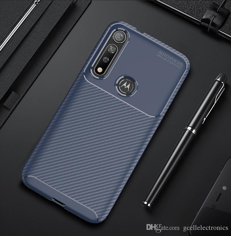 cgjxs in fibra di carbonio Tpu Custodie Cellulari per Moto G8 + il G7 Xiaomi 9 Pro redmi Nota 8 8a Slim Custodia per cellulare antiurto