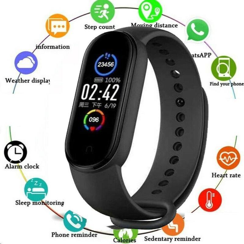Smart Watch BluetoothWaterproof Sport Trainingsherzfrequenz Blutdruck Fitness TrackerBracelet Monitor-Armband IOS Android