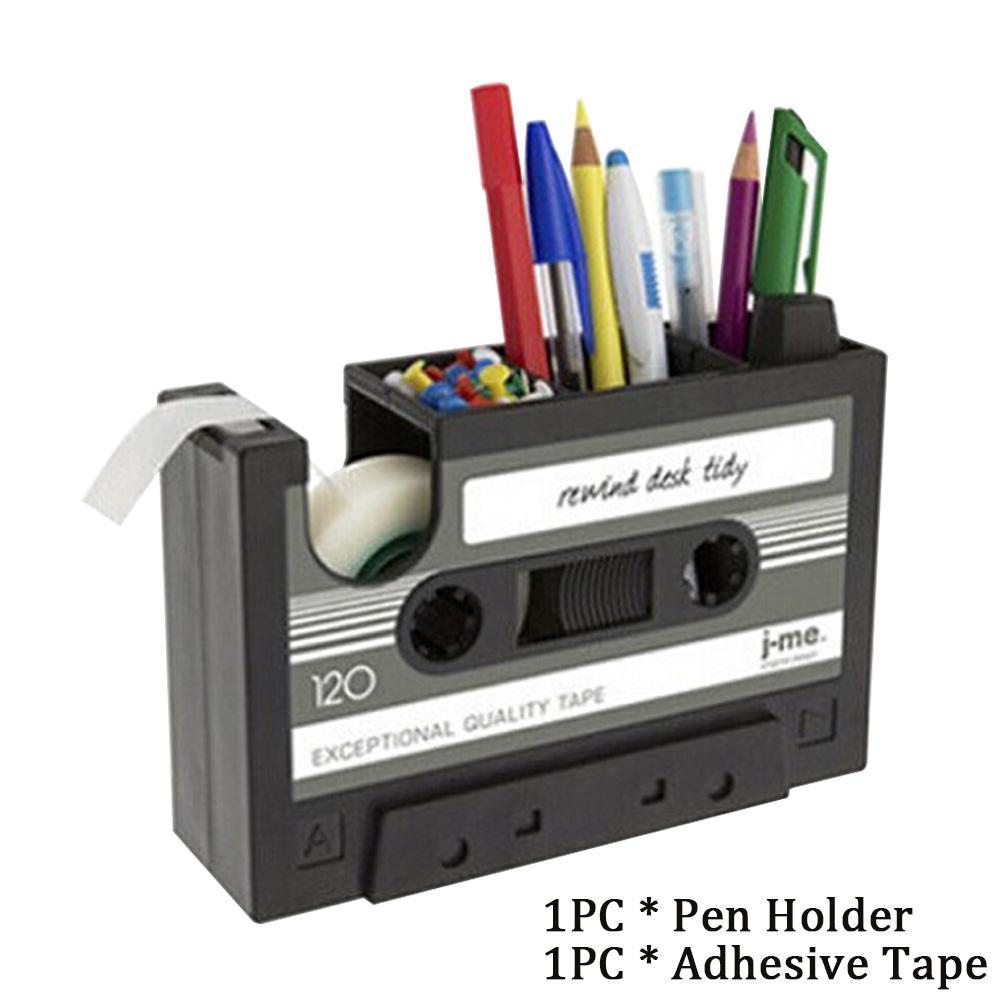 Regalo del estilo del cassette de cinta de la vendimia de la pluma del sostenedor del hogar del estudiante del escritorio de oficina de contenedores