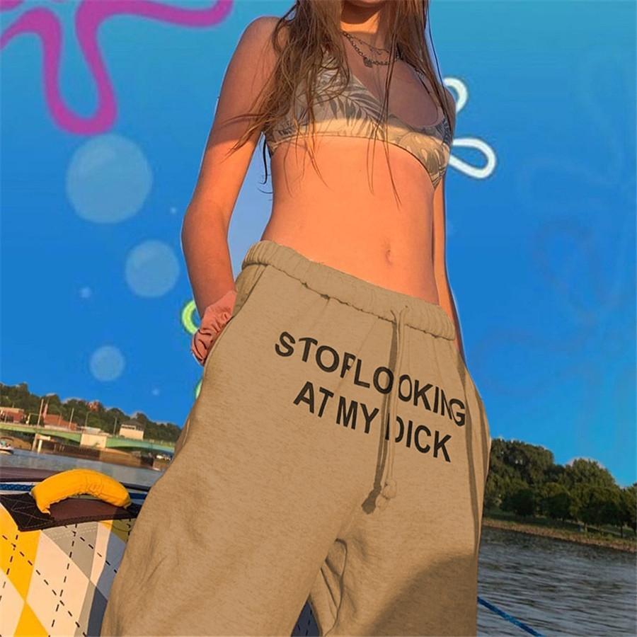 Desinger Mulheres Alargamento Pants Senhoras Stacked Corredores plissadas Sweatpants cintura alta Calças Dividir Sino calças lápis inferior Roupas Femininas 885 # 971