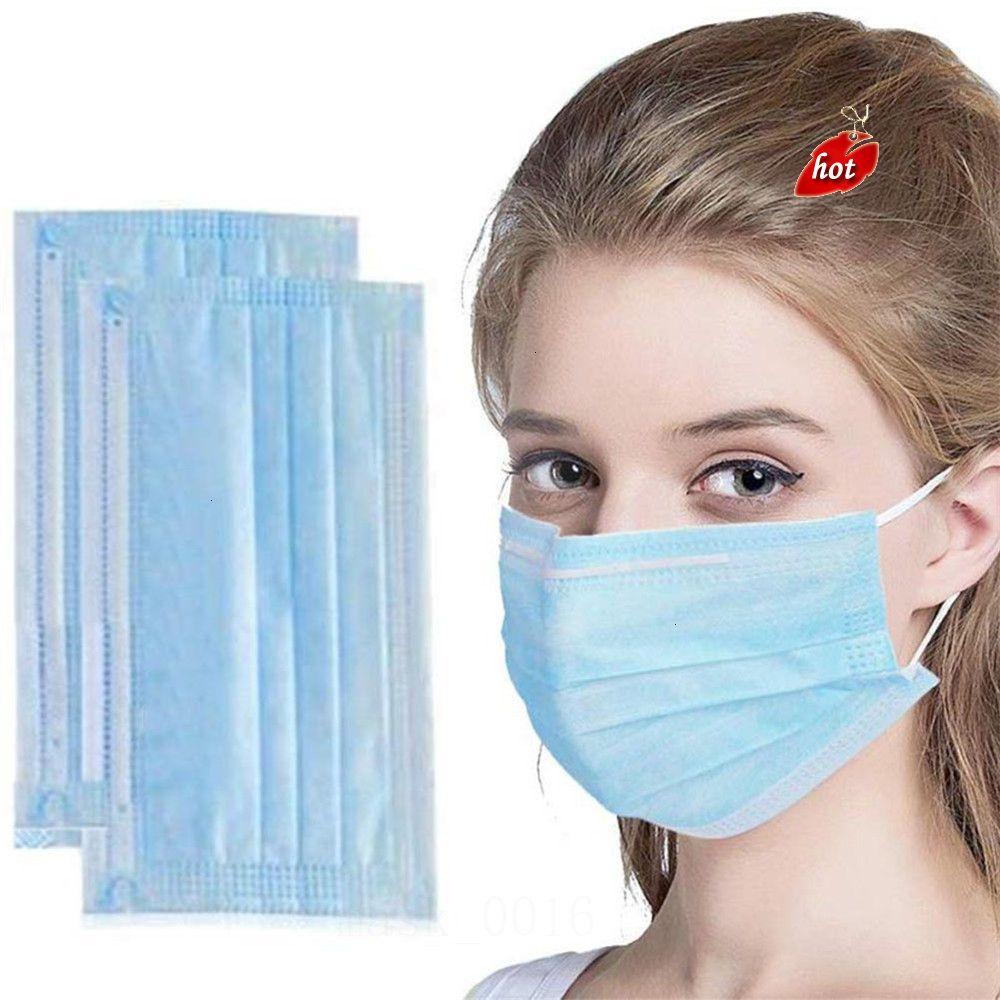 Blue 3 50PCS cores descartáveis camadas máscaras contra pó amp; Água Facial face da tampa LFZJ Máscara F94C