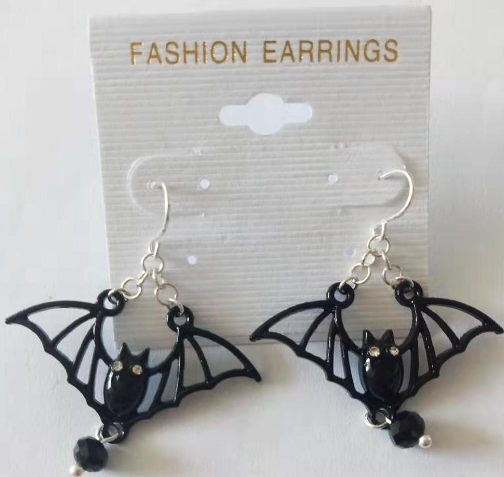 Nouvelle chauve-souris Halloween étrange noir de bijoux et de la mode nouvelle chauve-souris Halloween étranges noir bijoux et boucles d'oreilles boucles d'oreilles de mode