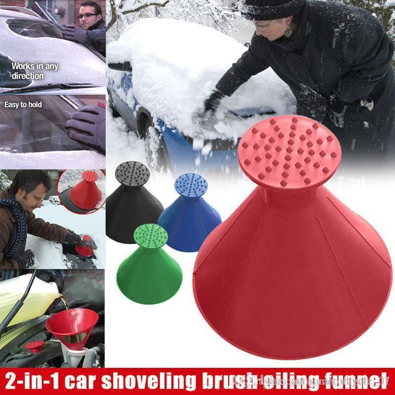 New Scrape A Round Ice Scraper Car Windshield Snow Scraper Cone Shaped Ice Scrapers Simple And Easy To Get Snow Off Your Car MMA1112 40pcs