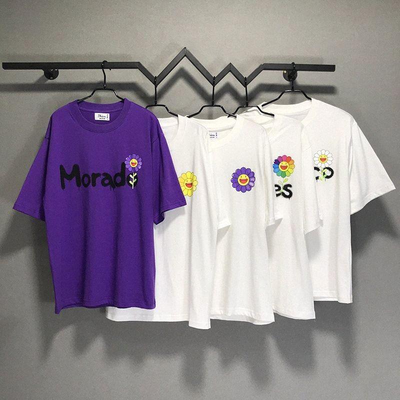 Güneş Çiçeği J Balvin Takashi Murakami T-Shirt Erkekler Kadınlar Çift Tees Boy% 100% Pamuk T Gömlek Erkekler QKGI #