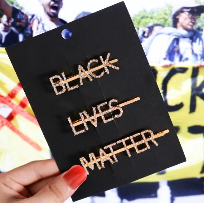 كلمة المشابك دبابيس الراين بوبي دبابيس الديكور غطاء الرأس الأسود حياة المسألة (MSK)