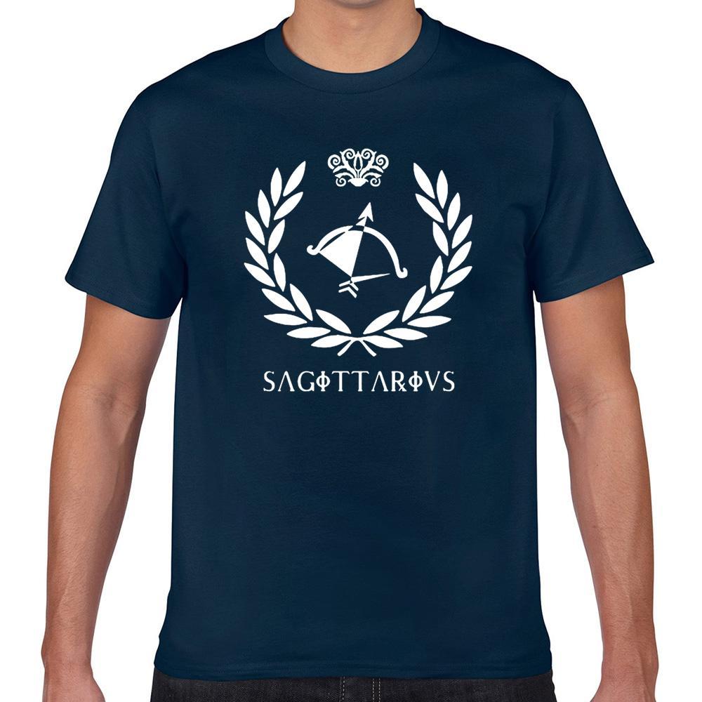 Tops T Shirt Men Sagitário branco engraçado Imprimir Masculino Camiseta