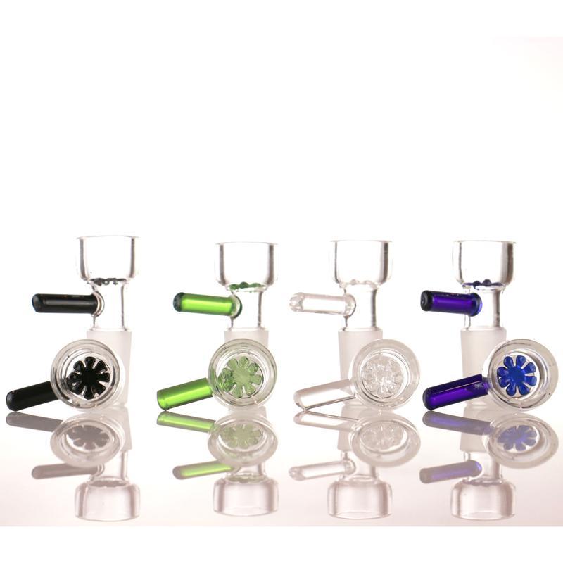 ciotola di vetro casuale manico di colore hanno 14mm e ciotola di fumare 18 millimetri molti colori per vetro bong
