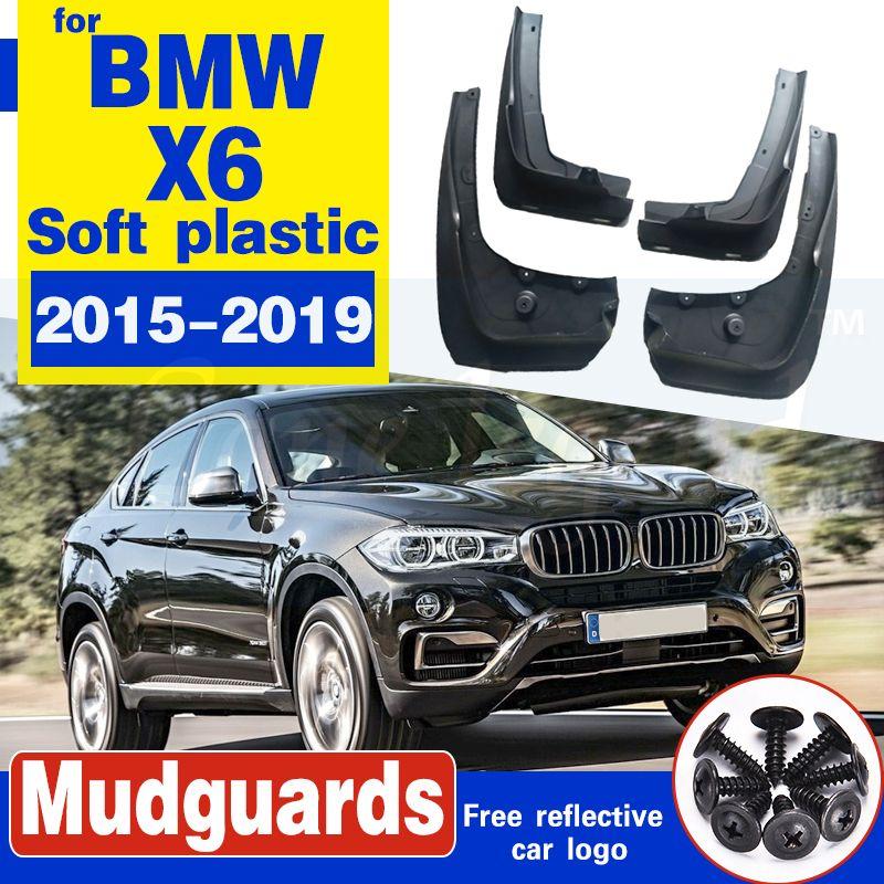 Pour BMW X6 F16 2015 ~ 2019 Garde-boue Fender boue Garde Rabats Splash Flap Accessoires Garde-boue 2016 2017 2018 35i 50i 30d 40d 50d