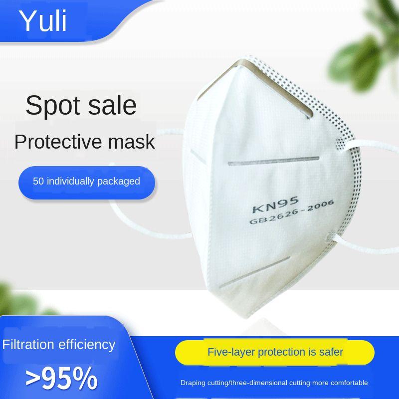 Tek% 95 beş katmanlı koruyucu Civil 50 Dokunmamış / Nefes Maske kutu