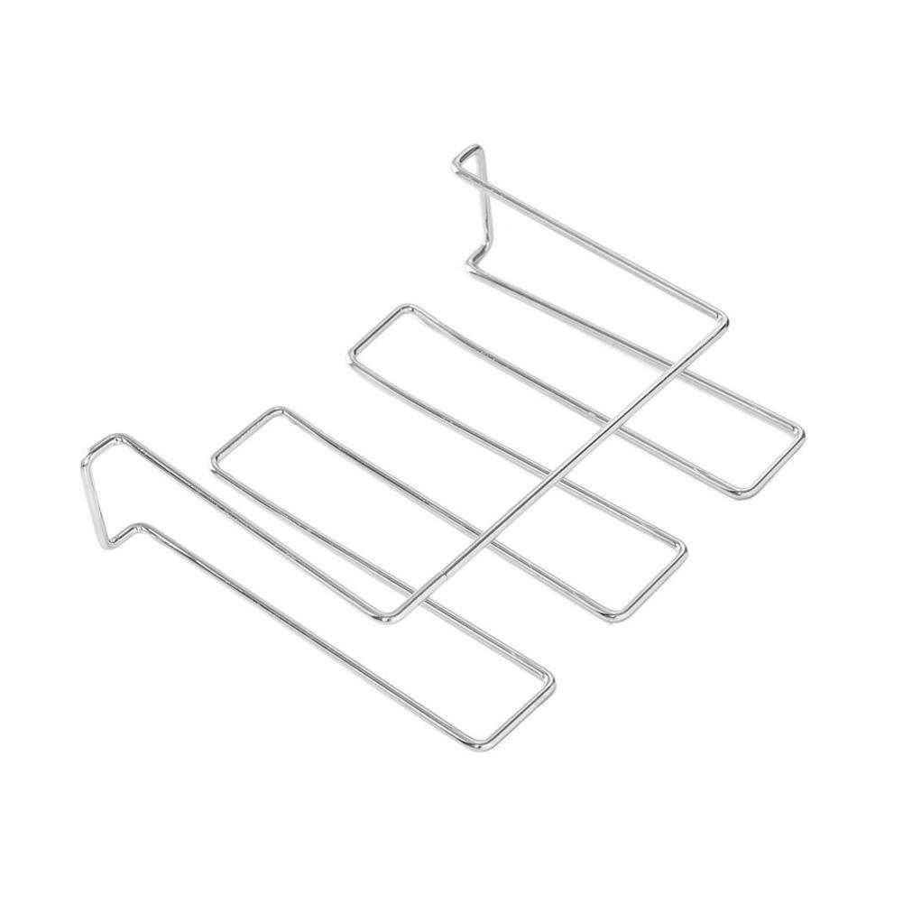 Tres filas del vino de cristal Titular colgantes del estante Europea prueba del moho simple alambre de hierro