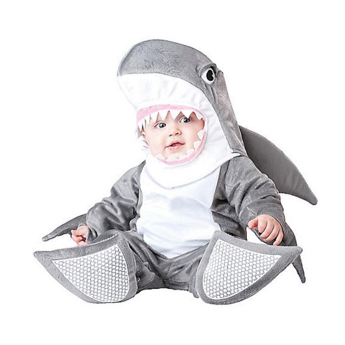 Yeni Güzel Hayvan Cadılar Bayramı Kıyafet Baby için Bebek Erkekler Kızlar Bebek Fantezi Elbise Cosplay Kostüm Köpekbalığı / Pembe Canavar / Pembe Köpek / Beyaz Chick büyümek