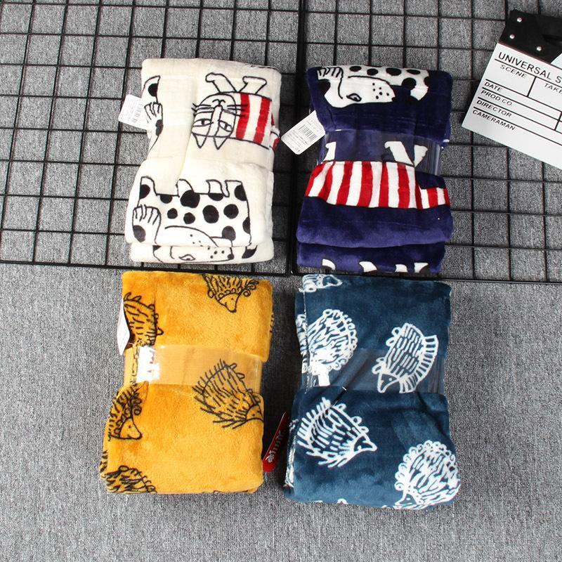 Japonya'dan İyi mal! Orijinal Kutusu Orjinal Packaging Pratik Ev Yumuşak Fanila Klima Battaniye Bebek Nap Battaniye