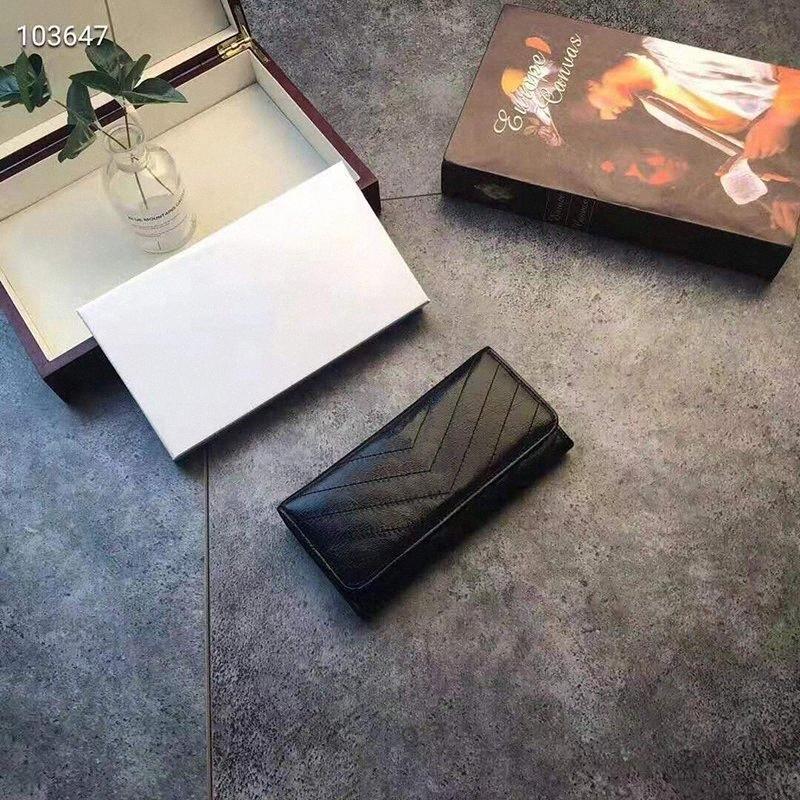 Rosa Sugao supporto del raccoglitore della carta cuoio genuino della mucca delle donne superiori di modo del raccoglitore 2020 di nuovo stile della frizione della borsa della moneta con la scatola Vegan Wal mPyV #