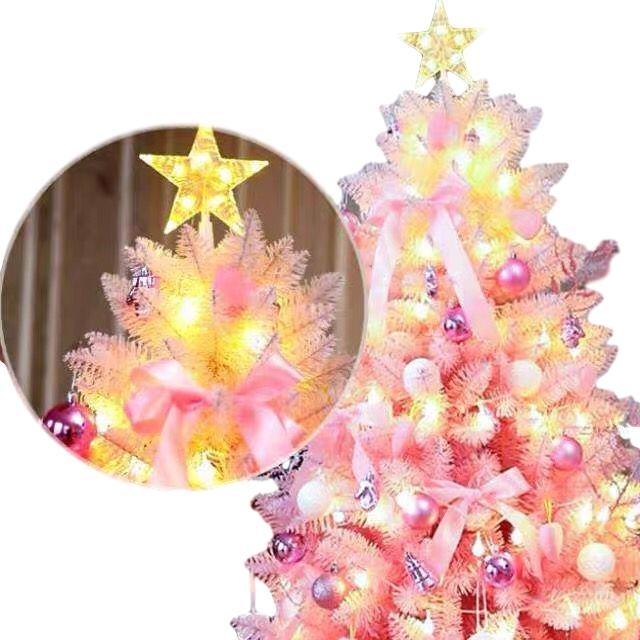 Weihnachtsbaum Kirschblüte rosae Steigung automatischer Baum und Verzierungen 150-210cm Luxus-Paket nach Hause Weihnachten handgemachte DIY Dekoration
