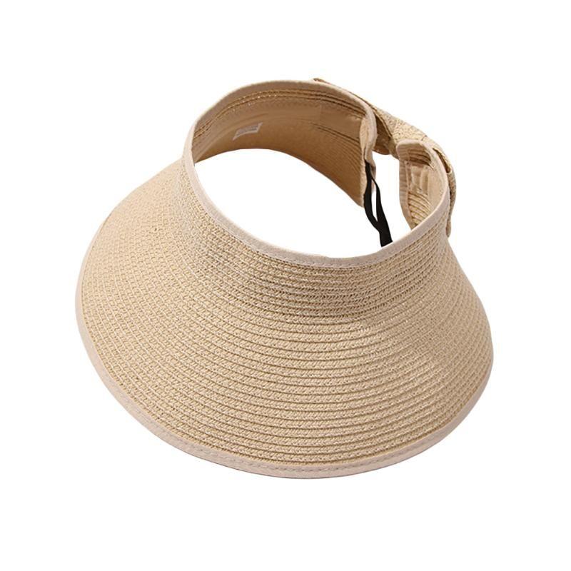 Женщины ВС Соломенная шляпка Широкий Брим Соломенная шляпка лето пляж Регулируемый широкий козырек от солнца женщина с Cute Bowtie # 40