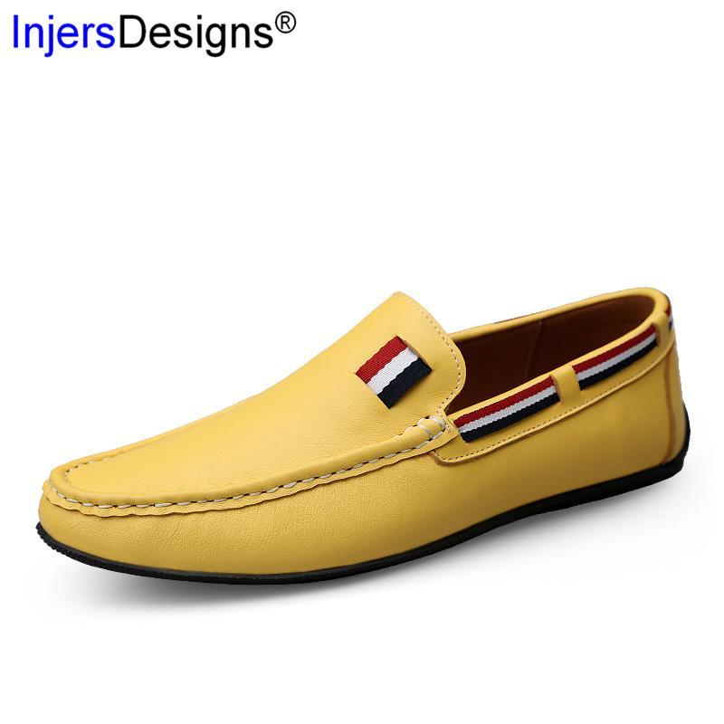 Artı boyutu 47 loafer'lar Erkekler Sürüş Ayakkabı Yumuşak Makosenler Marka Moda Kayma-On Nefes Flats Casual Erkek Ayakkabı Zapatos De Hombre