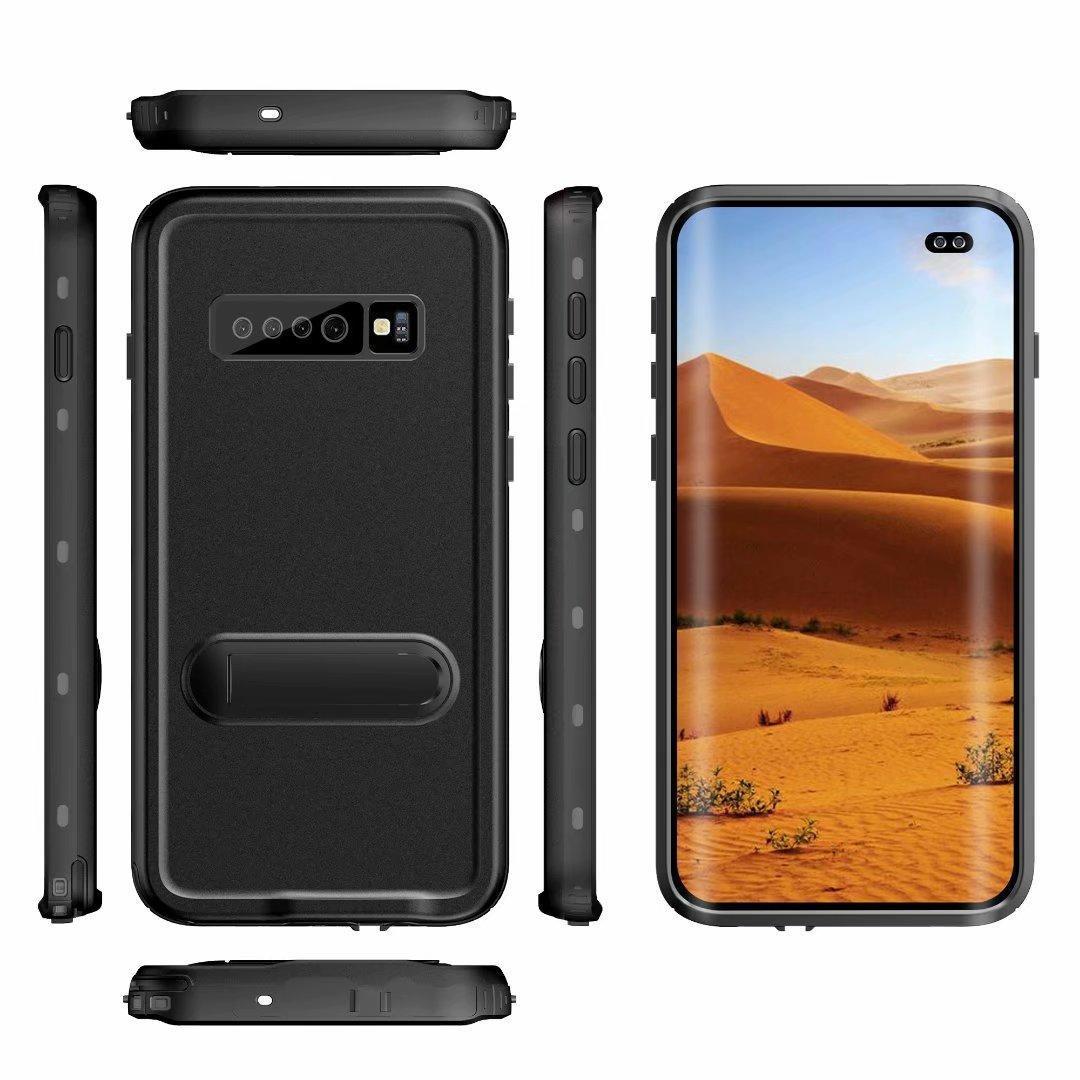 cgjxsRedpepper impermeável à prova de choque Kickstand capa para Samsung Galaxy S9 S9 Plus Nota 9 Nota 8 S10 S10 Além disso 20pcs / Lot IP69k Piscina surfi