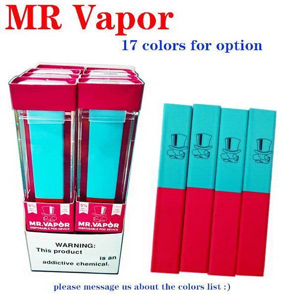 MR VAPOR edibles Einwegvorrichtung puff bar Starter Kit MRVapor 280mAh Akku 1,3 ml-Patronen 400puffs Pre e CIGS Vaporizer gefüllt