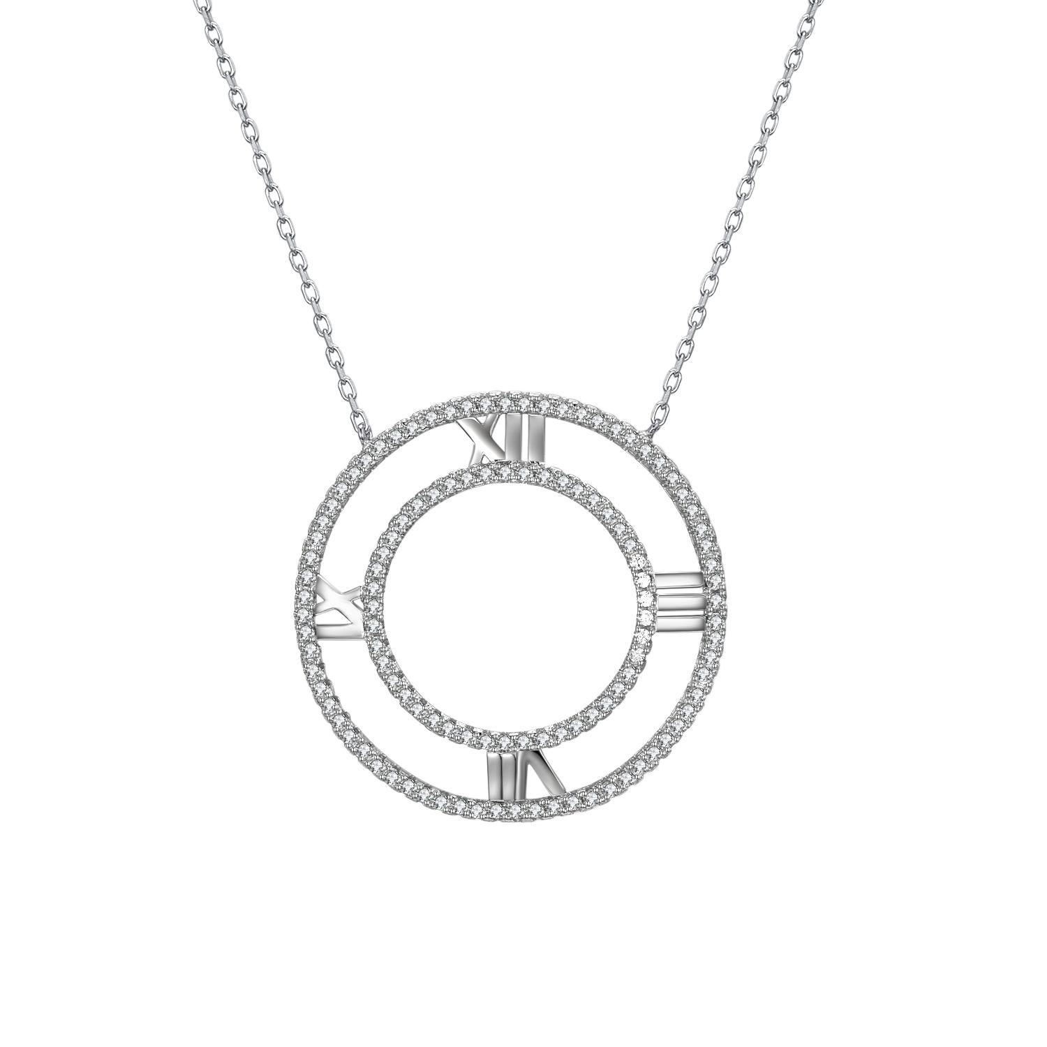 Statement Choker Necklace Sterling Silver Pendant Big Circle shape Jewelry Suspension Casual/Sporty Women 925 silver Pendants