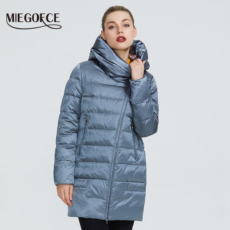 Caldo Giacca donna Collezione di MIEGOFCE 2020 Inverno Donne Donne Cappotti e giacche invernali antivento fermo collare con cappuccio T200814