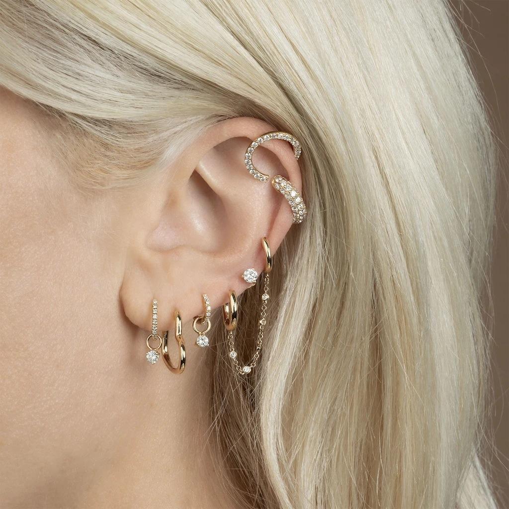 qO33D Takı moda ve yuvarlak zincir altın kişiselleştirilmiş daire Kadın Takı moda ve yuvarlak zincir küpe altın kişiselleştirilmiş daire kulak