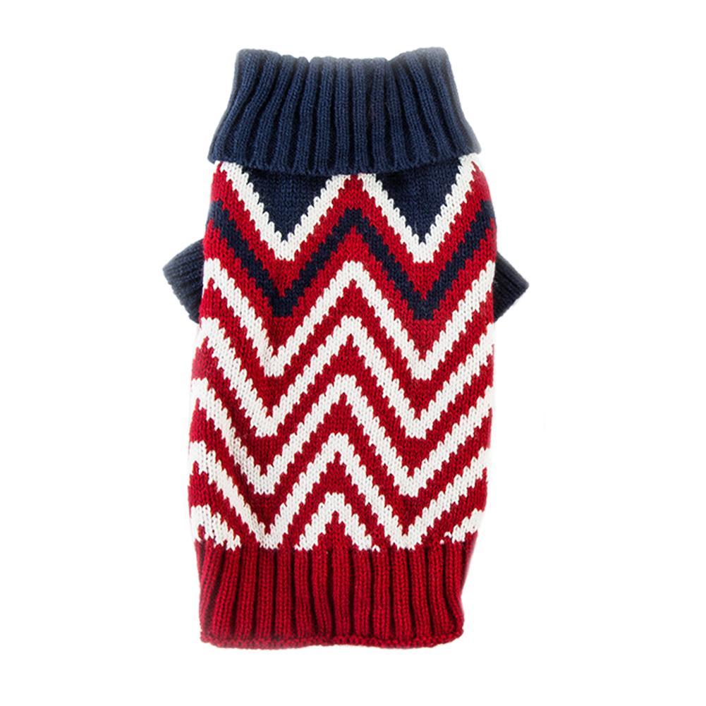 Warm Pullover moda per i cani quotidiano con onde modello Pet magliata elastico
