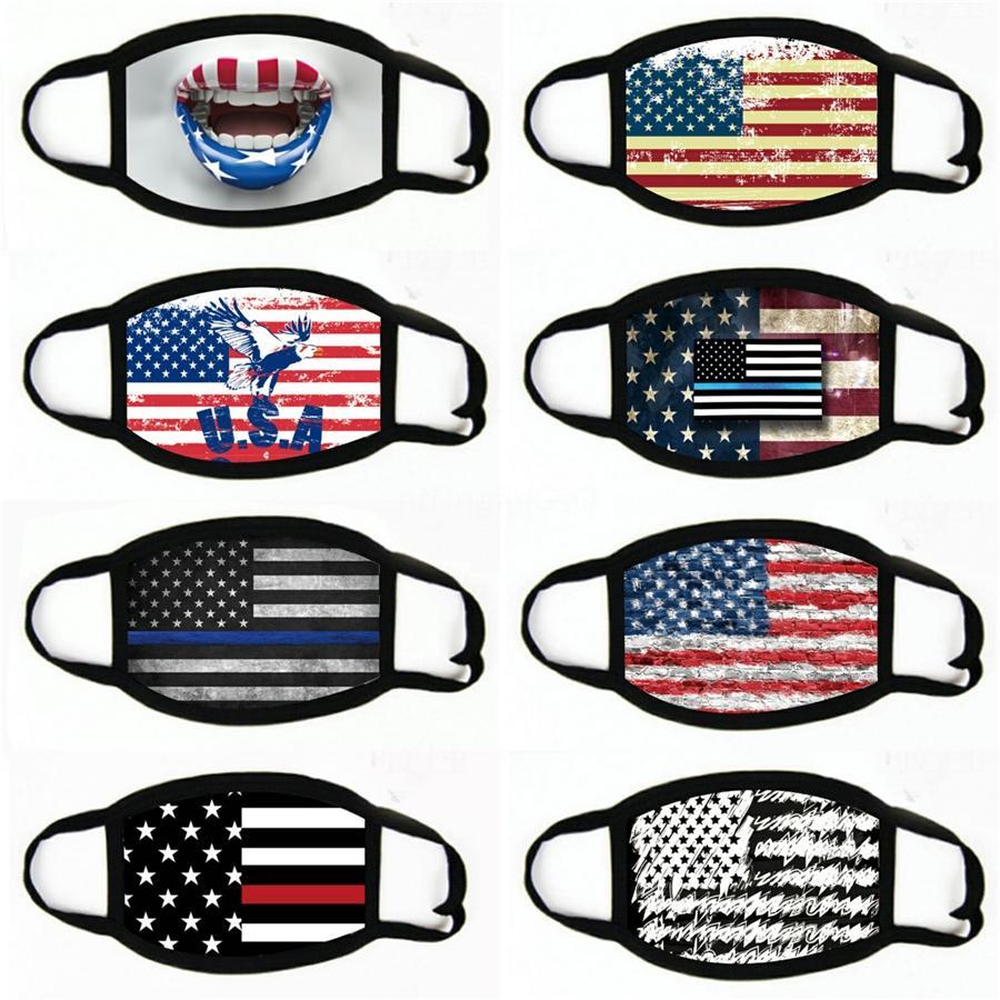Склад США Американский флаг Printed Защитные маски Взрослые Спорт езда Маски Маска Волшебное полотенце # 153