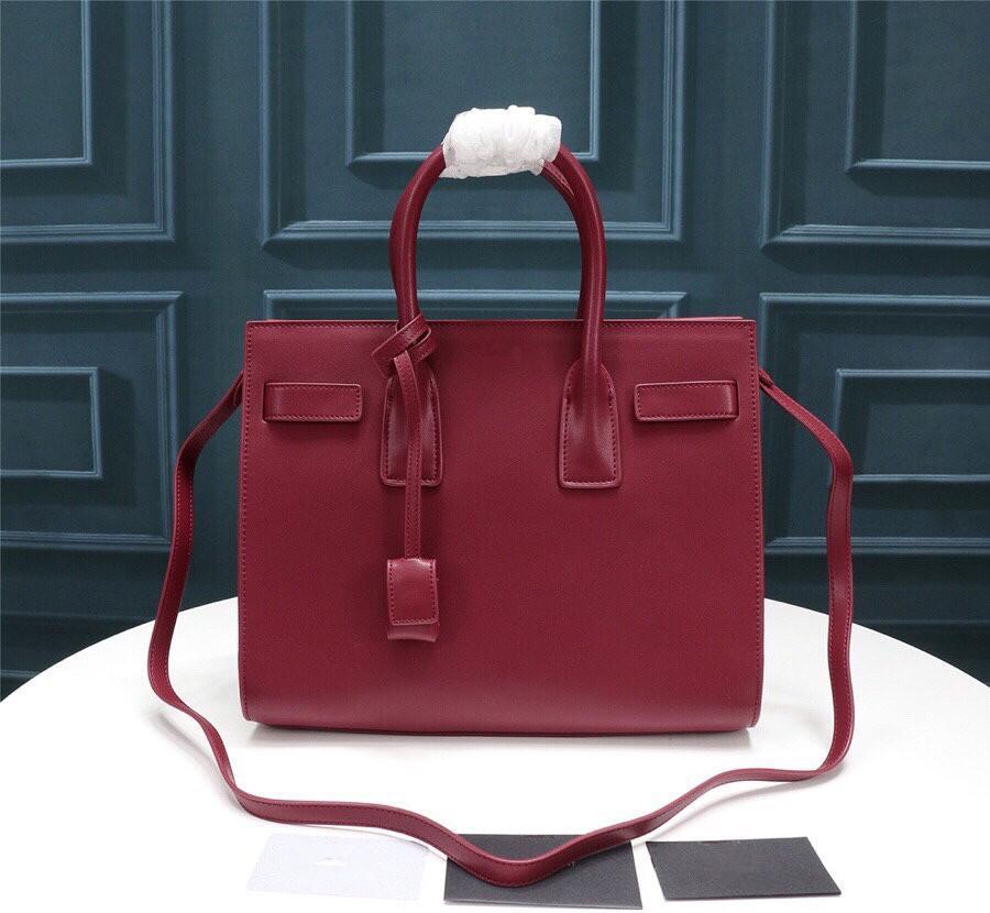 Marke Frauen Totes Freie Größe Große Tasche Weibliche echte große Handtasche Orgel Kapazität MOMMY Versandtaschen Leder Schulter OPGTO
