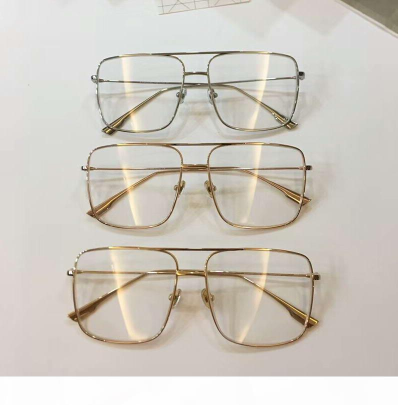 Quadratischer Goldmetallrahmen freie Objektiv-Brillen Sonnenbrillen Mode Sonnenbrillen Brillen Rare neu mit Box