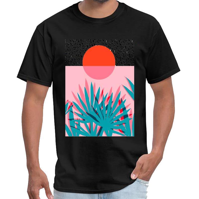 Gedruckt Sonnenaufgang Rhude T-Shirt Herren T-Shirt vaporwave s-5xl Slogan