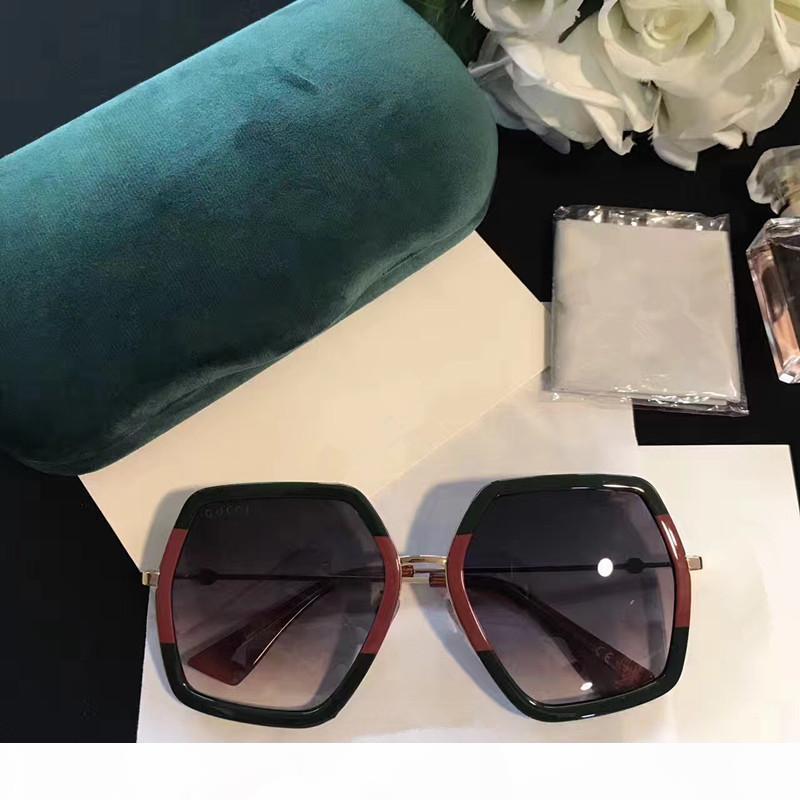 Moda Luxo Mulheres grife Sunglasses 0106 Praça Big Quadro Verão generoso estilo misto Cor da Armação Top Quality Lens Proteção UV