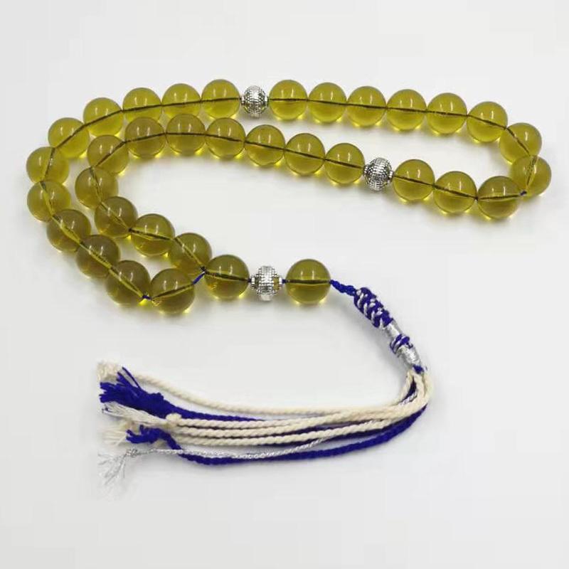 Tasbih Ambers Farben-Harz-Muslim Armbänder Islam Rosenkranz handgemachte Kuwait Modeschmuck 33 45 51 66 99 Gebetsperlen Misbaha Y200730