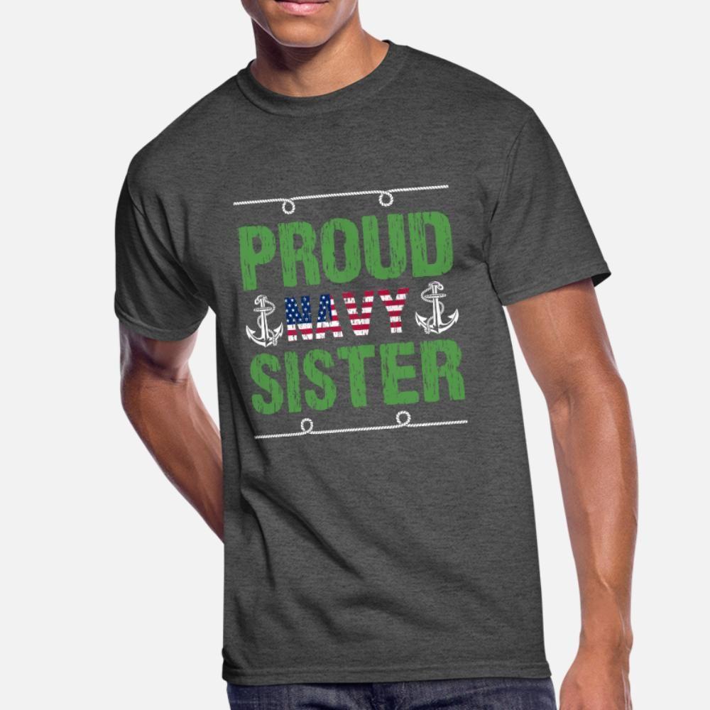Proud Donanma Kardeş t gömlek erkekler Özelleştirilmiş% 100 pamuklu S-3XL Biçimsel Fit Nefes Bahar Desen gömlek