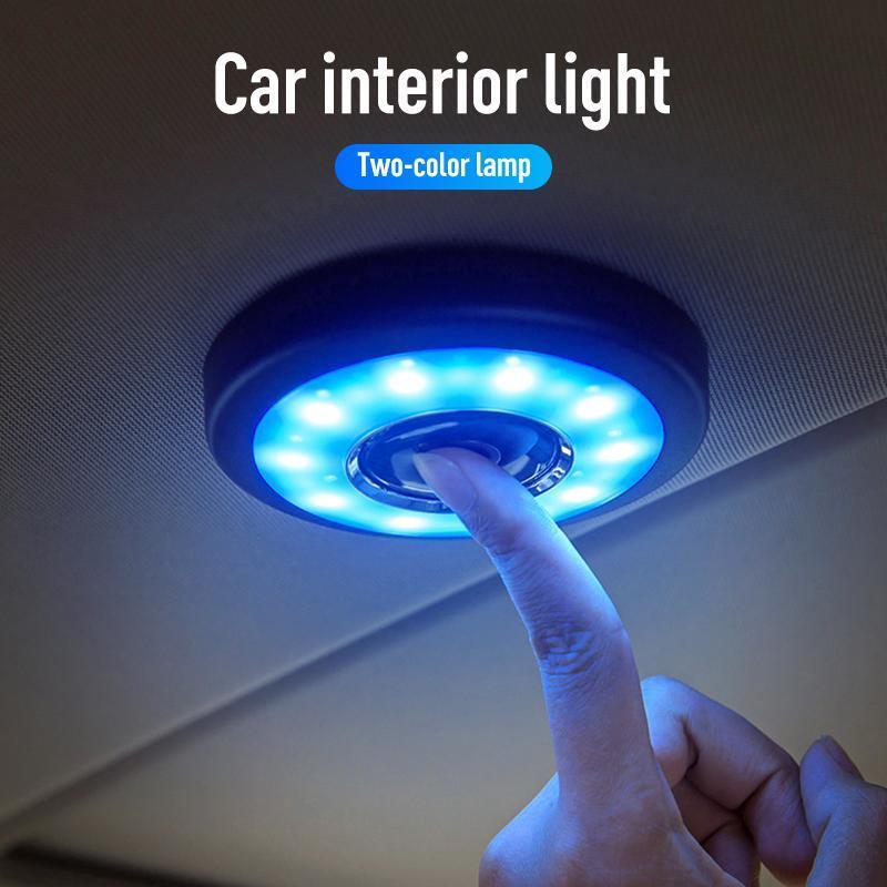 Neue USB-Lichter tragbare Runde Universal-nachladbare drahtlose Innenleselampe Noten-Art Auto-Innenraum Nachtlicht Lade-LED