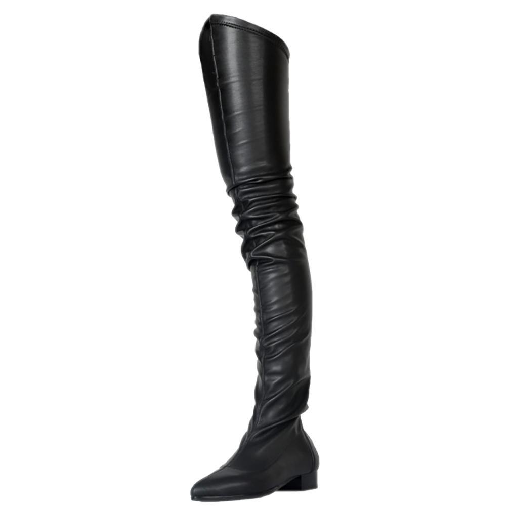 boxZDONE Bayanlar 2019 Yeni Klasik Uyluk yüksek Boots Büyük Beden Kış Uzun Patik Parti Balo Giydirme Akşam Çizme Shoes71e5 # Isınma ekle