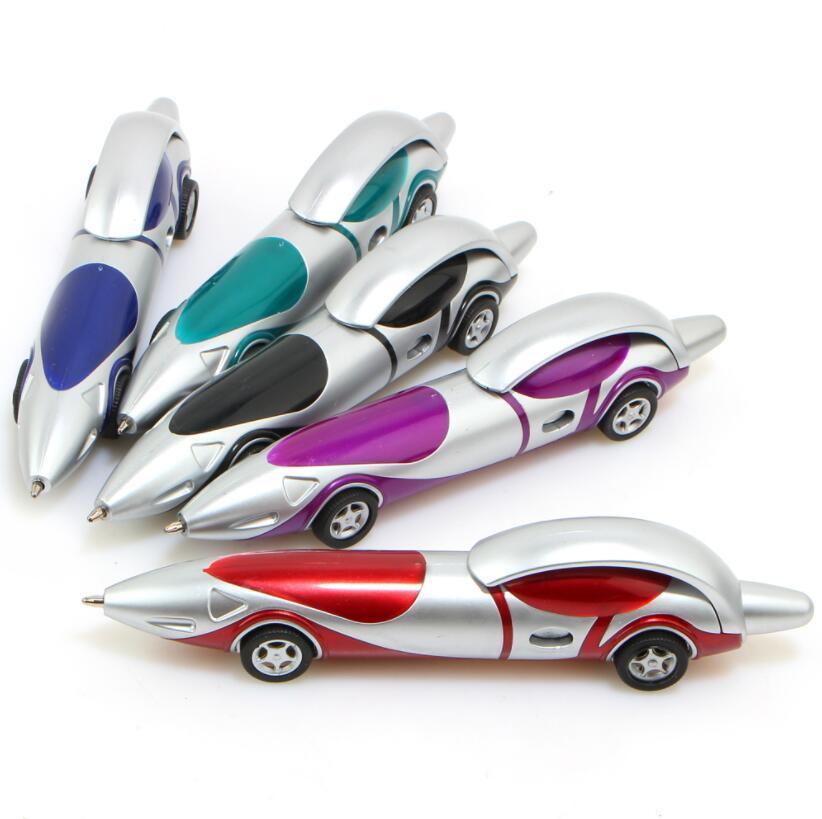 Material plástico de Kawaii lindo coche de la historieta del bolígrafo de la novedad de la pluma de bola creativas Artículos Productos juguete para niños de 6 colores escuela de la oficina