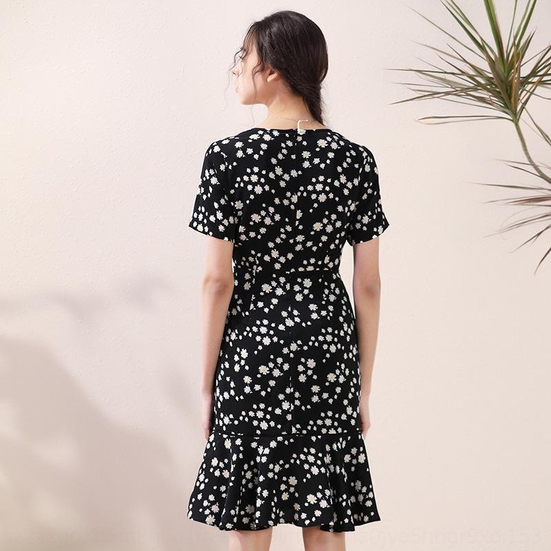 ddNA2 6WRQE Kleine Daisy Sommer Blumen neues Kleid Kleid hipster Taille dichte professionelle Platycodon grandiflorum Französisch 2020 Chiffon- Frauen