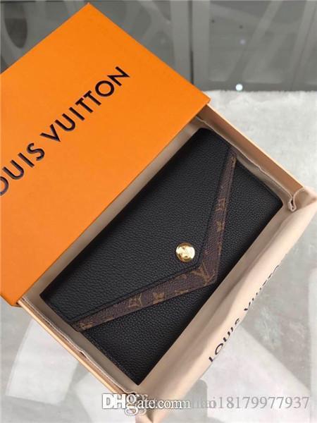 mujeres calientes de lujo bolsa de diseñador de la cartera monedero estrella del aire verdadera titular de la tarjeta de cuero M64319 7264991 LOU tamaño de serie con caja de 19X10cm