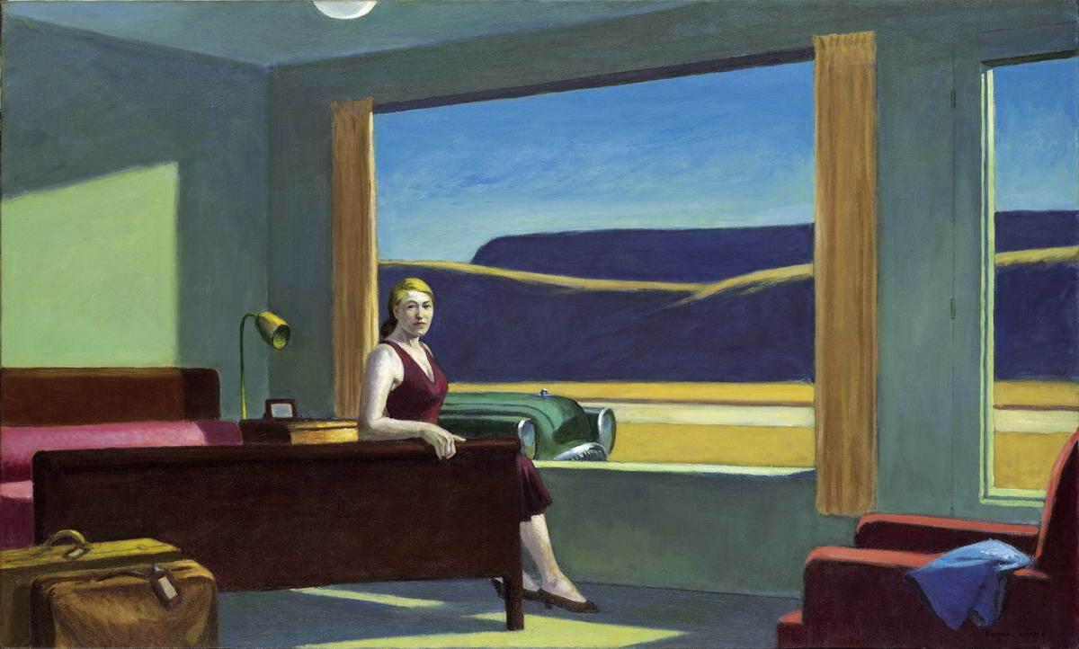 Açık Tuval Wall Art Canvas Resimler A448 Boyama Edward Hopper Western Motel Ev Dekorasyonu Handpainted HD Baskı Yağ