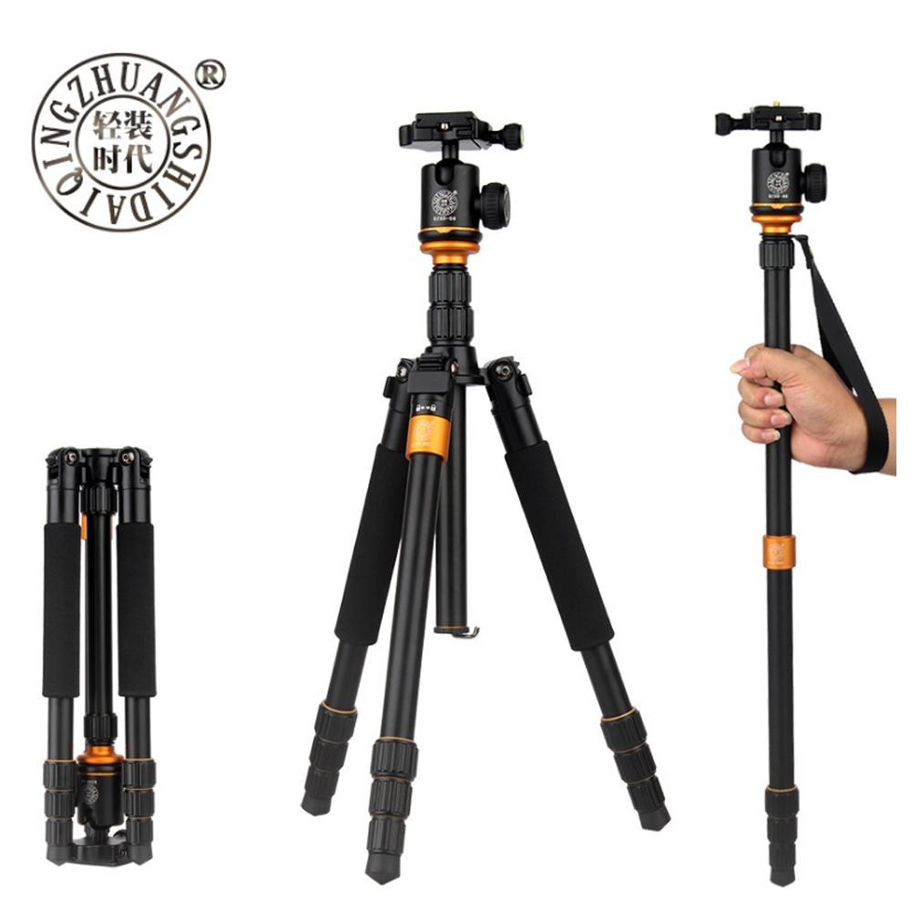 Beike QZSD Q999S Professional Photographic Portable Aluminium Alloy Tripod Kit Monopod Stand Ball head For Travel DSLR Camera LJ200904