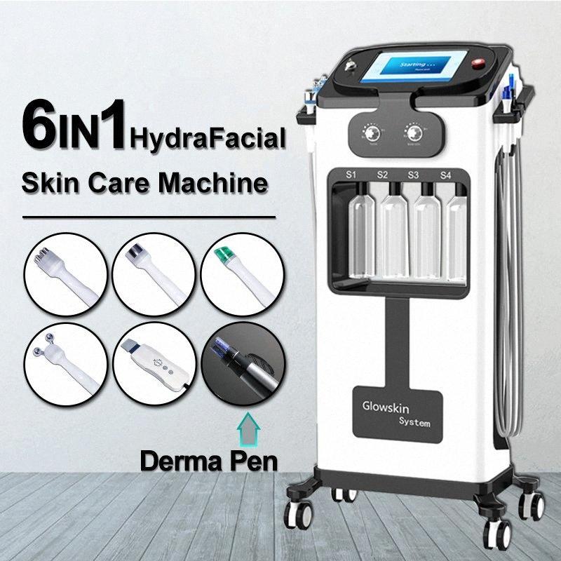 6 in 1 HydraFacial dermoabrasione macchina Acqua Ossigeno Jet Peel Hydra di lavaggio della pelle viso bellezza Pulizia profonda RF Face Lifting Derma p o1vB #