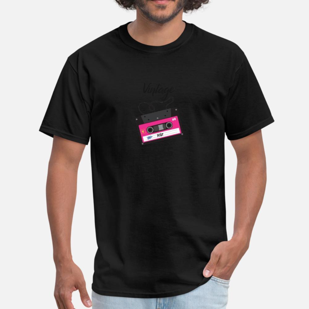 Vintage 1985 hombres de la camiseta Personalizar camiseta Euro Tamaño S-3XL del patrón anti-arrugas Primavera Casual camisa del patrón