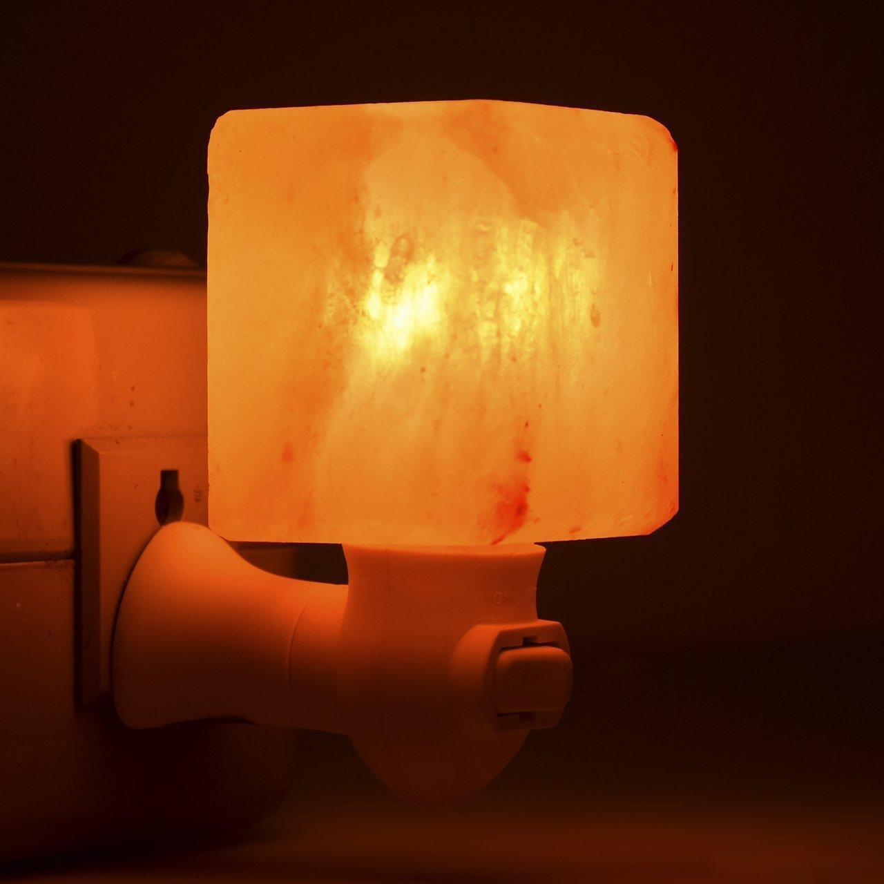 Himalaya-Salz-Lampe Hand geschnitztes natürliches Kristall Mini Salz Nachtlicht drahtlose Birne Austauschbare Nursery Lampe für Home Office Schlafzimmer Geschenk