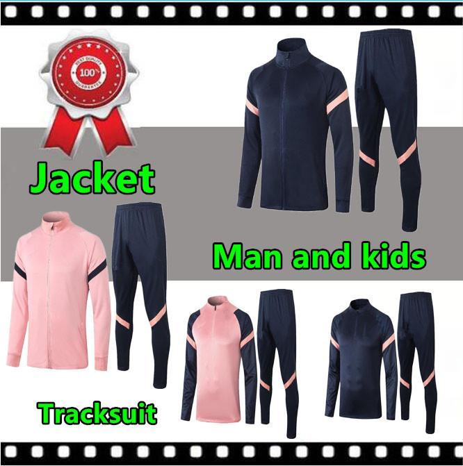 2020 2021 uomo e bambini tuta rivestimento di calcio 20 giacca tuta di calcio 21 maniche lunghe da jogging CHANDAL futbol