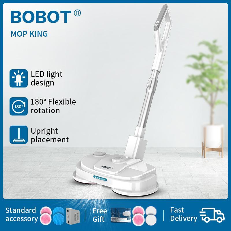 الطابق BOBOT MOP KING اللاسلكي الكهربائية التطهير روبوت محمول الكهربائية الممسحة رذاذ المياه الممسحة ويت التنظيف الجاف